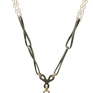 Niello Locket Necklace from The Married Chains Collection