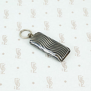 niello silver whistle pendant