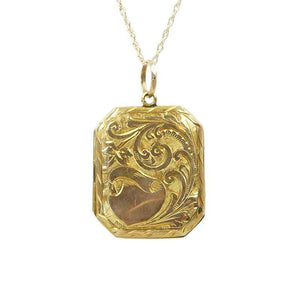 Antique 9k Yellow Gold Locket from Birmingham England