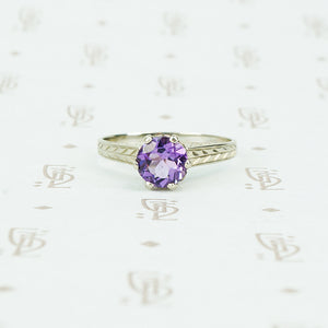 otsby and barton white gold and amethyst ring