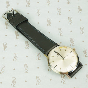 1970's omega ultra slim watch in 14k white gold