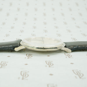 1970's Omega 14k White Gold Ultra Slim Wristwatch