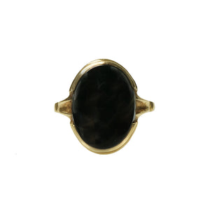 Onyx and Gold Vintage 1930's Ring