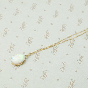 Lively Opal Pendant in Yellow Gold