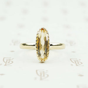 recycled 18k gold vintage imperial topaz ring