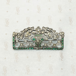 Stylized Edwardian Garden Brooch