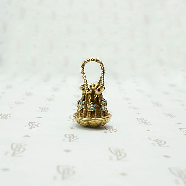 Darling Victorian Draw String Purse Charm