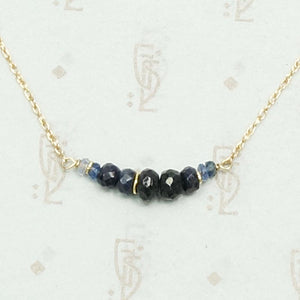 The Olio Arc Necklace in Sapphire and Yellow Gold by brunet