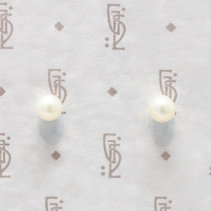 Freshwater Pearl Studs in Sterling Silver
