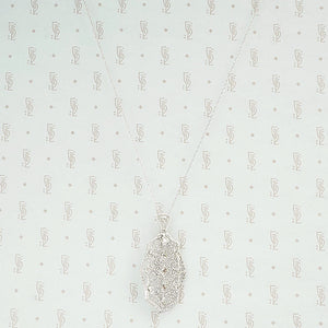 14k white gold convertible pin pendant in filigree