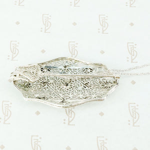 Convertible Pin Pendant Diamond Filigree Jewel