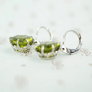 Incredible Green Peridot Vintage Dangle Earrings