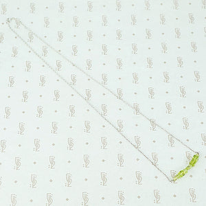 The Olio Arc Necklace in Peridot by brunet