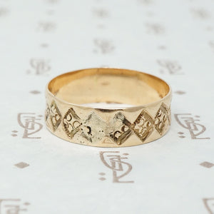 Rosy Gold Victorian Cigar Band
