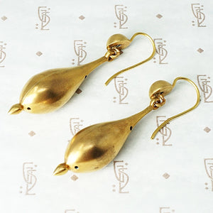 Hypnotic Pinchbeck Pendulum Earrings