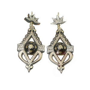 Victorian Highly Detailed Pique Earrings