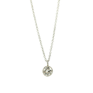 Orbit OEC Platinum Diamond Pendant - Gem Set Love