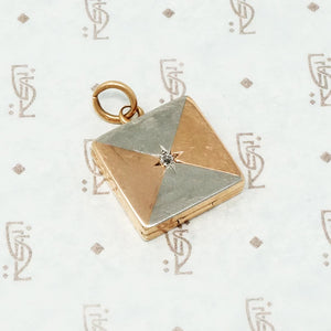 platinum rose gold and diamond locket