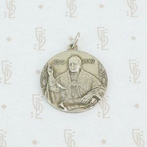 sterling pope pius XI pendant