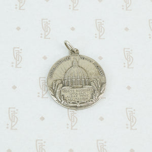 sterling pope pius XI pendant reverse with vatican