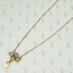 The Rose Gold Pyrite Heart Lock Necklace