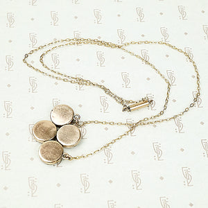 The Quatrefoil Rose Gold Pyrite Necklace
