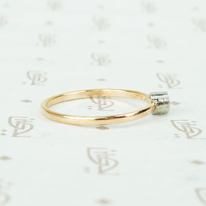 Orbit Rose Gold and Platinum Diamond Ring