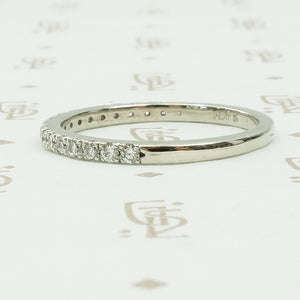 Lovely French Set Diamond and Platinum Band