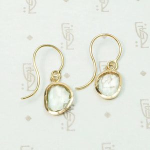 Organics Green Amethyst Earring in Recycled Gold by 720