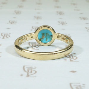 Sleeping Sky A Specimen Turquoise Ring in 14k Gold
