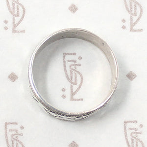 Clover & Diamonds Silver Cigar Band by 720