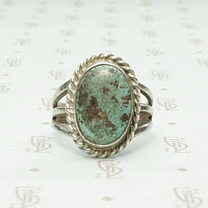 Subtle Green Turquoise in Hand Made Silver Setting