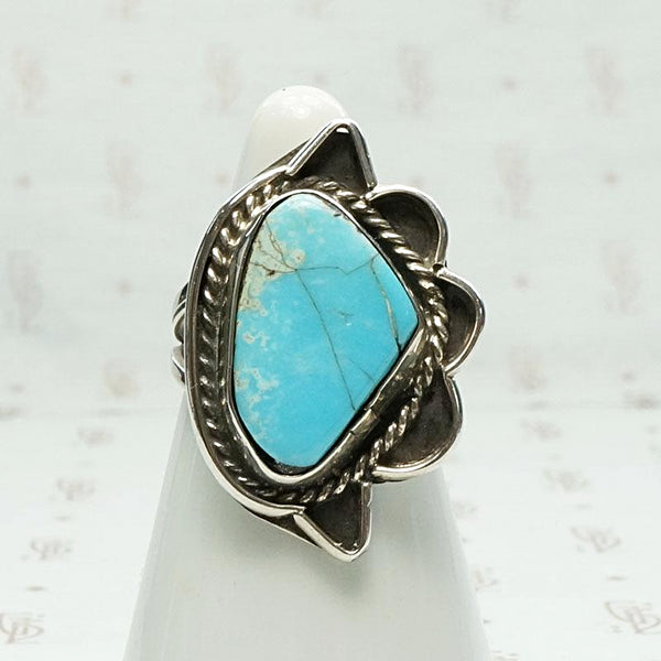 "Abstract ""Eye"" Ring in Turquoise & Silver"