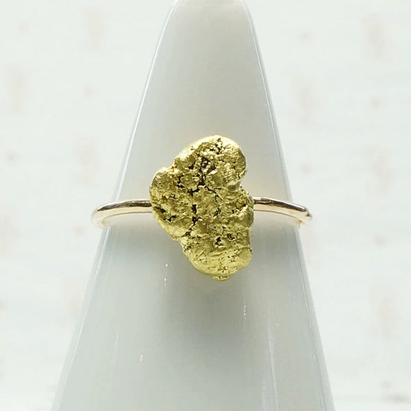 20k Gold Nugget Conversion Ring with a Twist