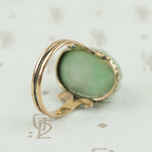 back view of jade scarab ring