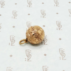victorian rose gold filled fob