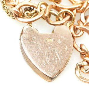 Rose Gold Heart Lock Necklace from The Bits & Pieces Collection