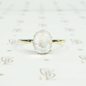 vintage moonstone and recycled gold ring