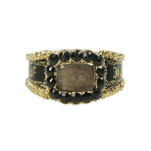 Mourning Ring in its Original Box circa 1822