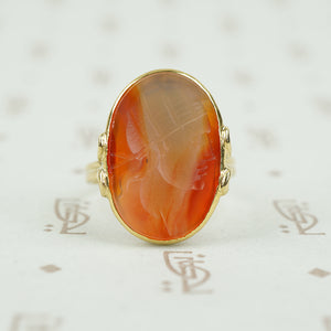 Lovely Roman Carnelian Intaglio Of a Youth