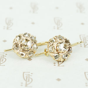 The Antique Rose Cut Diamond Ear Drops