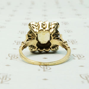 Rose Cut Diamond 19thc Picture Frame Ring