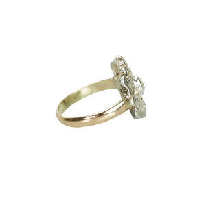 side view of antique diamond ring