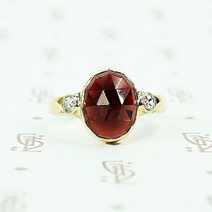 The Rose Cut Garnet and Diamond Ring by 720