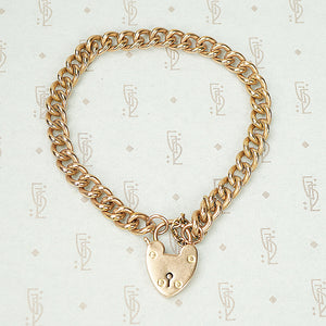 The Rosey Heart Lock Bracelet