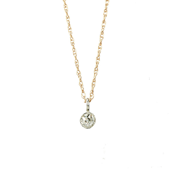 Orbit Diamond Pendant Platinum and Rose Gold - Gem Set Love