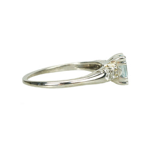 Vintage 1940's Aquamarine Engagement Ring