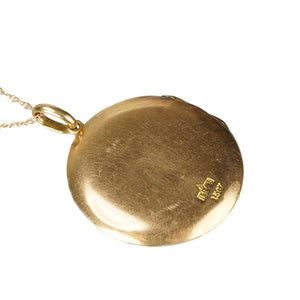 The Perfect Round Vintage Rose Gold Locket - Gem Set Love