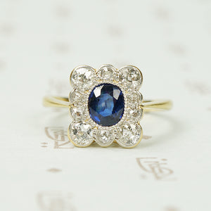 Cornflower Blue Sapphire and Diamond Ring