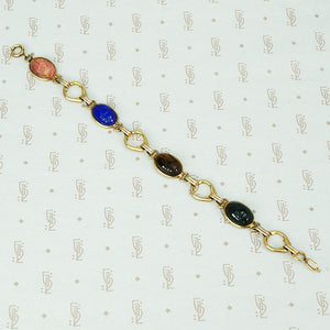 scarab gold filled bracelet